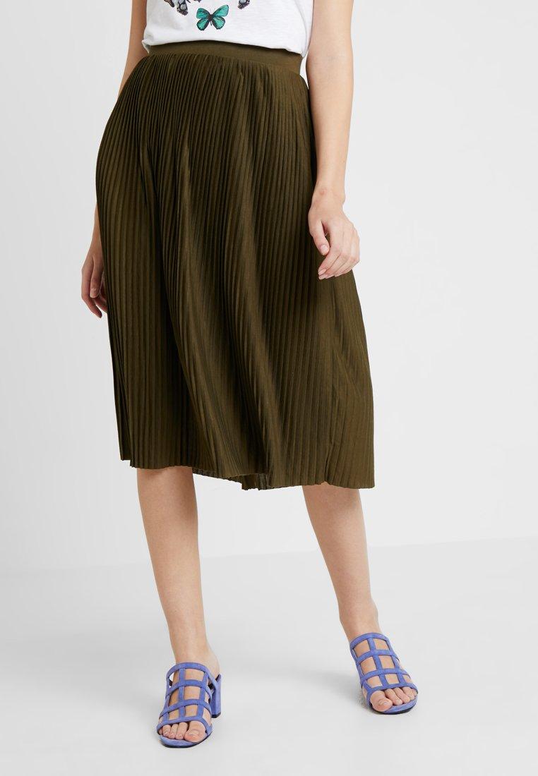 Vila - VIPLISS MIDI SKIRT - A-line skirt - dark olive