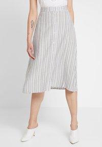 Vila - A-line skirt - navy blazer/cloud dancer - 0