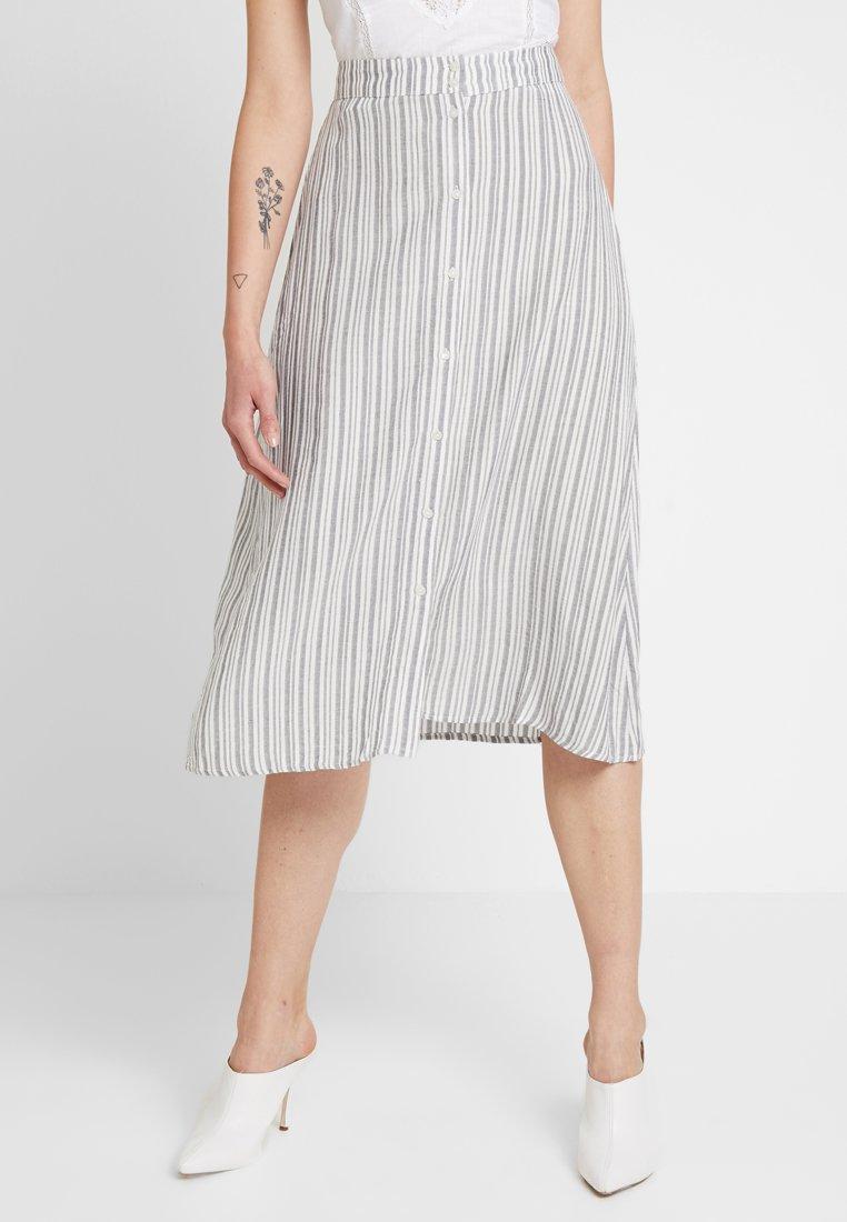 Vila - A-line skirt - navy blazer/cloud dancer