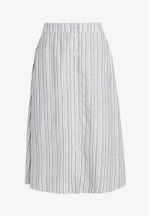 A-line skirt - navy blazer/cloud dancer