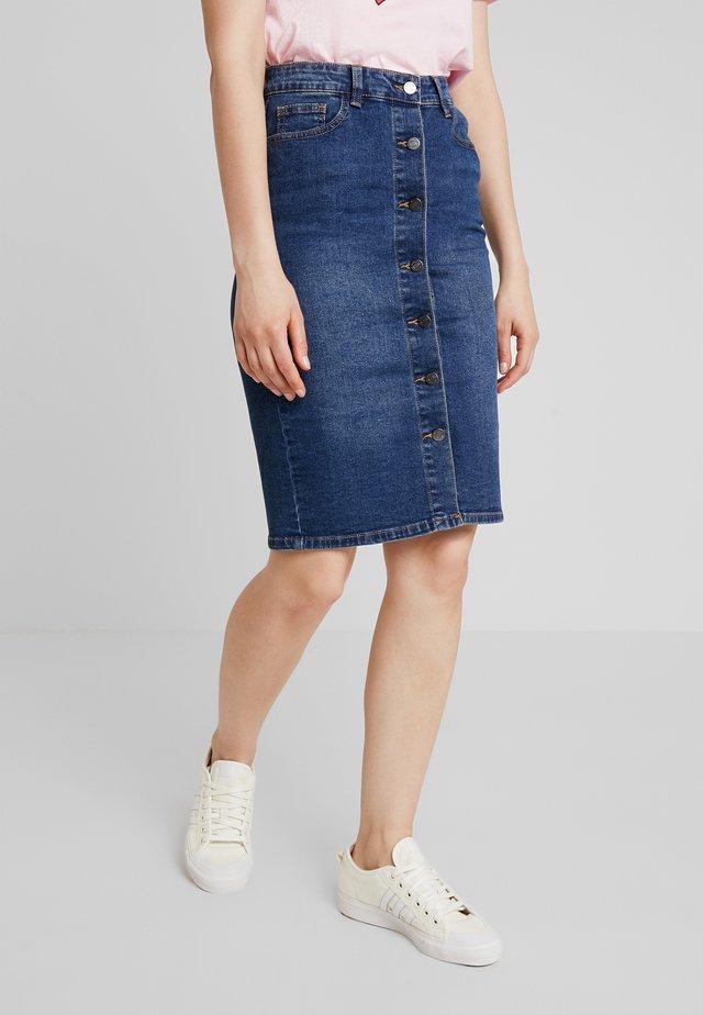 VISKYLAR SKIRT - Denim skirt - medium blue denim