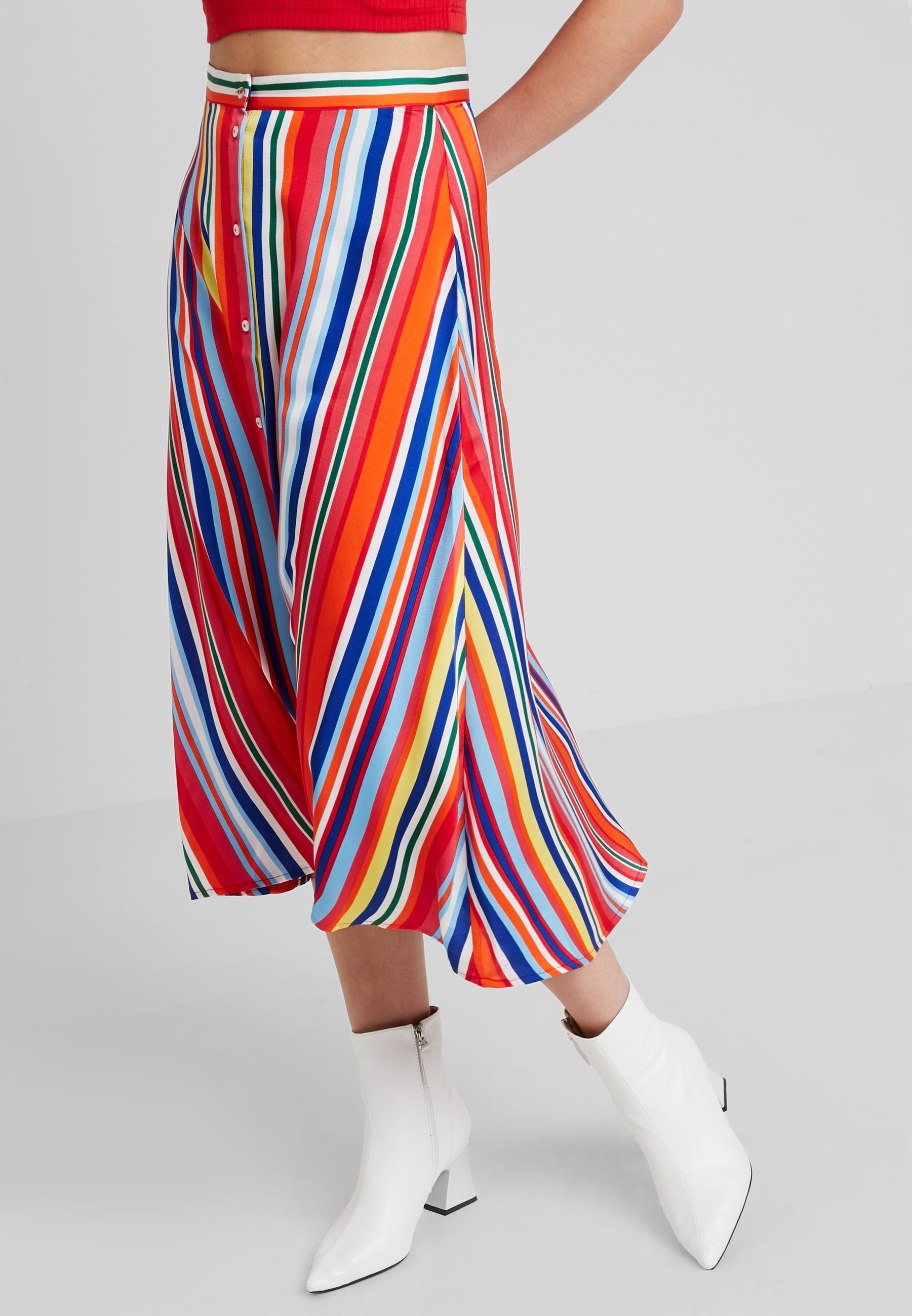 Vila COLOURFULL LONG SKIRT - Gonna lunga cherry tomato