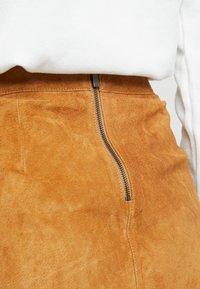 Vila - A-line skirt - dusty camel - 4