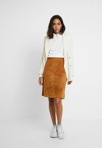 Vila - A-line skirt - dusty camel - 1