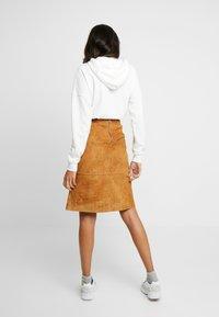 Vila - A-line skirt - dusty camel - 2
