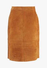 Vila - A-line skirt - dusty camel - 3