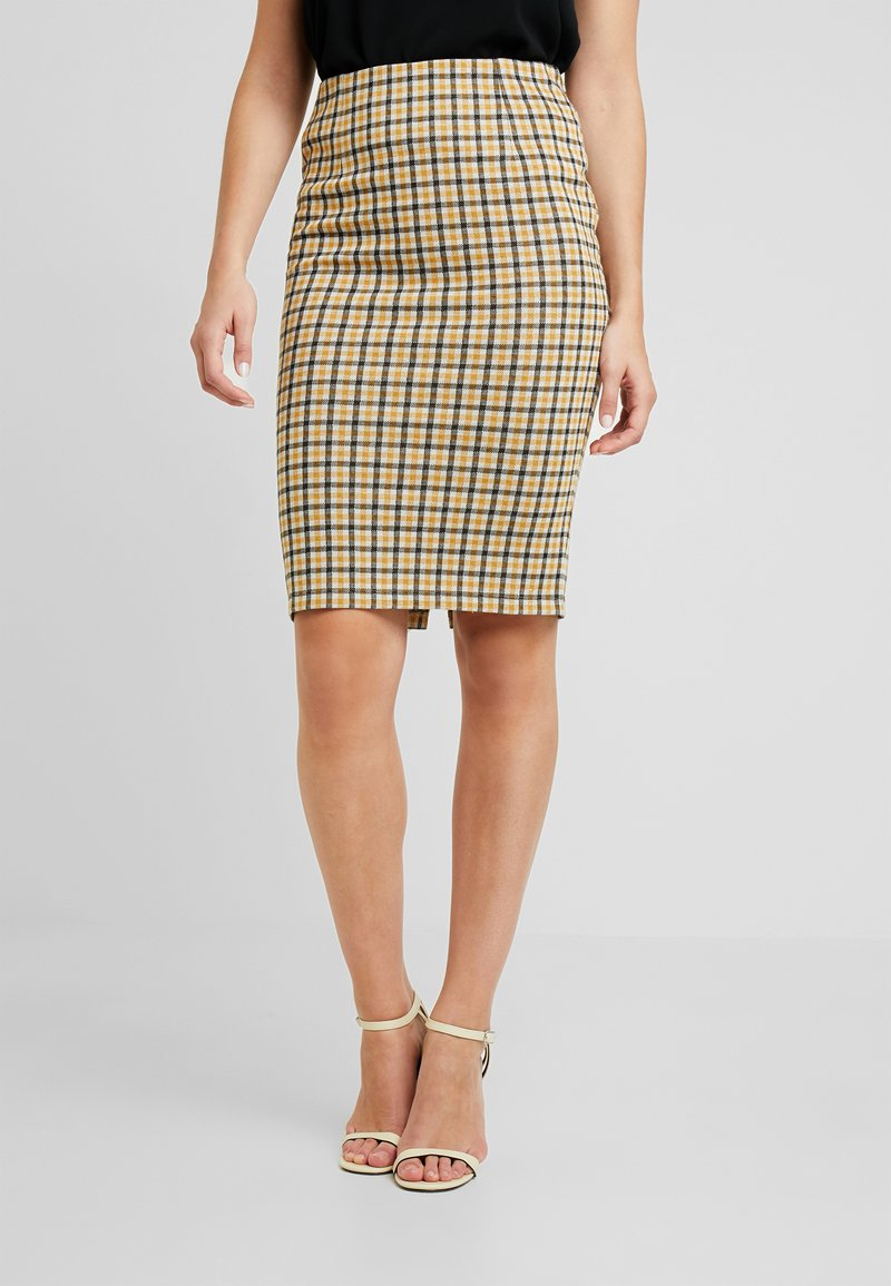 Vila - VIDIGAN PENCIL SKIRT - Pencil skirt - golden rod