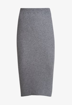 Spódnica trapezowa - medium grey melange