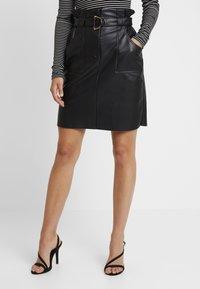 Vila - VITALINA SKIRT - Pencil skirt - black - 0