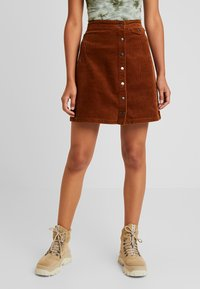 Vila - Mini skirt - toffee - 0