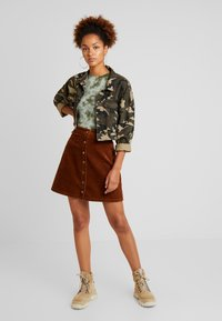 Vila - Mini skirt - toffee - 1