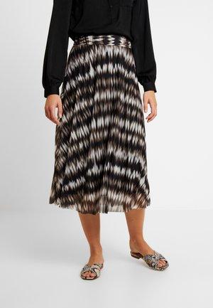 Spódnica trapezowa - black/zigzag