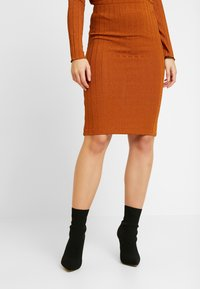 Vila - Mini skirt - caramel café - 0