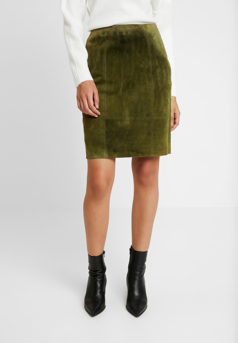 Vila - VIFAITH SKIRT - Pencil skirt - dark olive