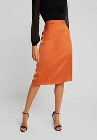 Vila - Pencil skirt - autumn leaf - 0