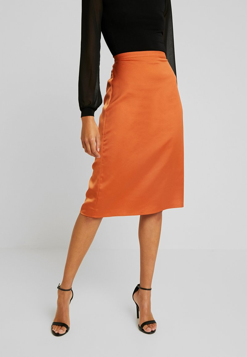 Vila - Pencil skirt - autumn leaf