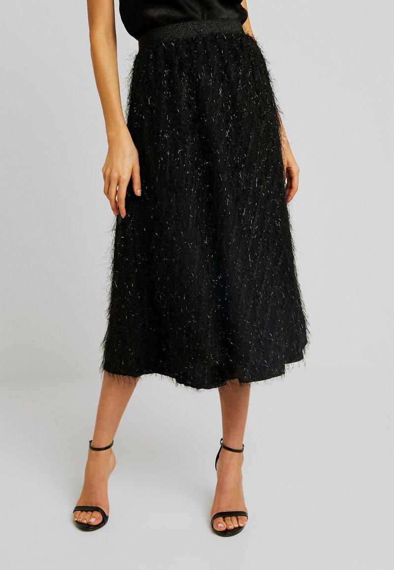Vila - A-line skirt - black