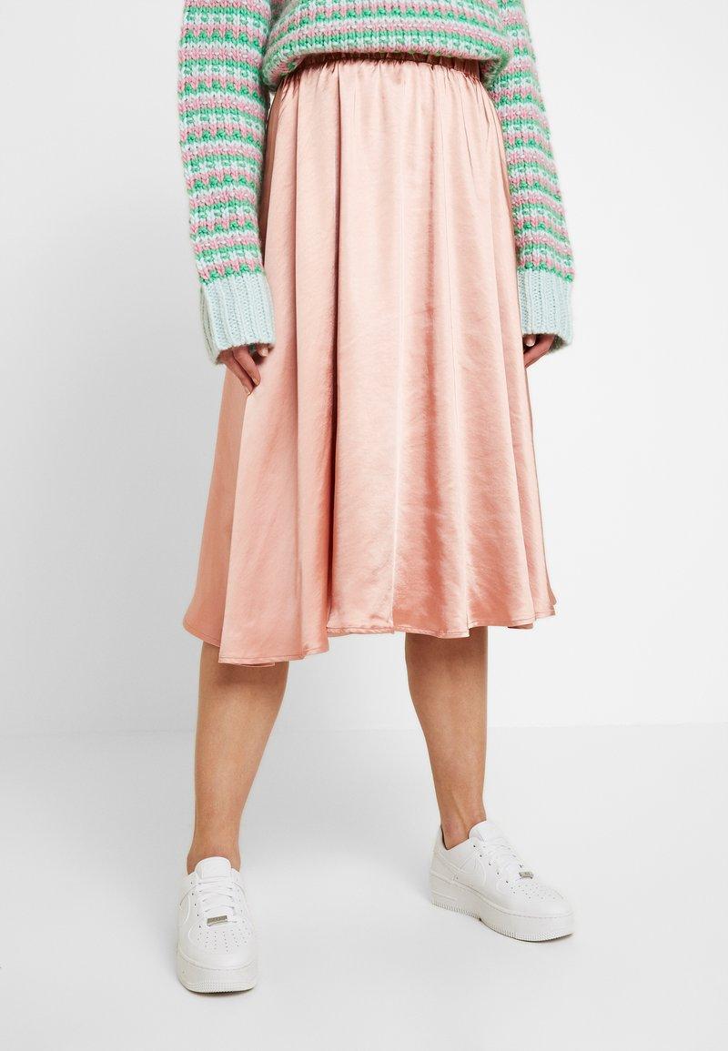Vila - VITIANA SKIRT - A-line skirt - rose tan