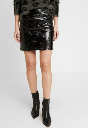 VICROCODILE SKIRT - Miniskjørt - black