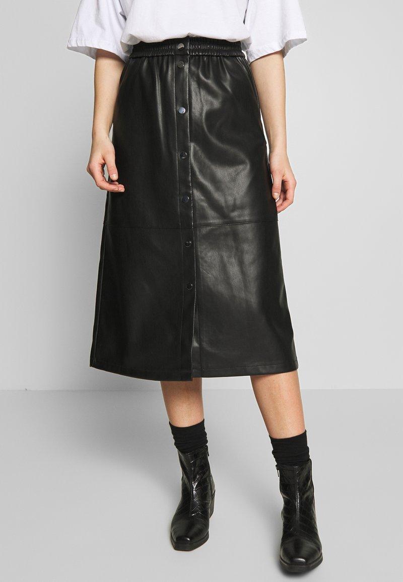 Vila - VIPULLA MIDI SKIRT - Pencil skirt - black