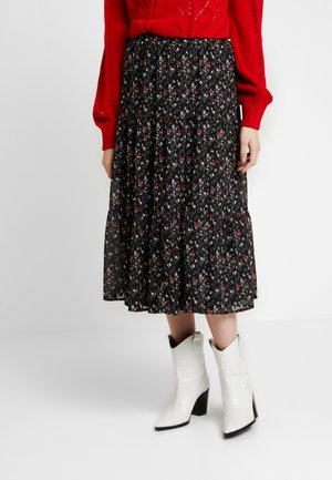 VIFLIS LONG SKIRT - A-line skirt - black/mulitcolor