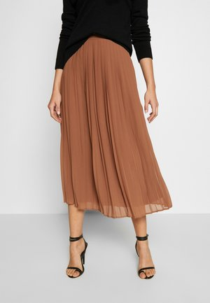 VIPLISSEA MIDI SKIRT - Gonna a campana - rawhide