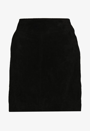 VISUSA SKIRT - Skinnkjol - black