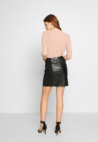 Vila - VIALFIE SHORT SKIRT - Mini skirt - black