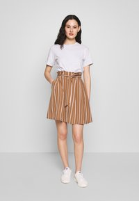 Vila - VIFANTASTIC SKIRT - A-linjainen hame - rawhide/cloud dancer