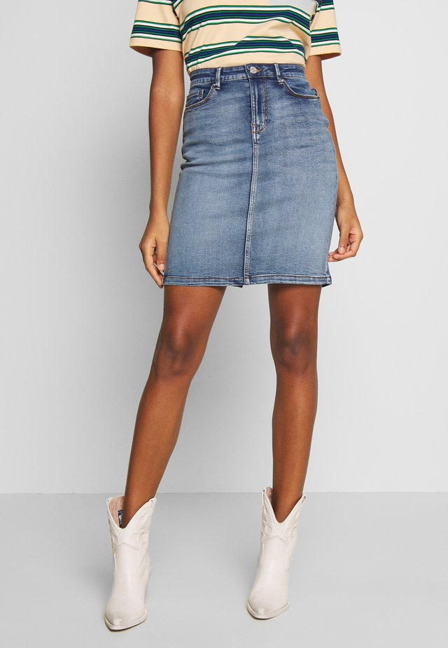 VICOMMIT FELICIA SKIRT - Gonna a tubino - light blue denim