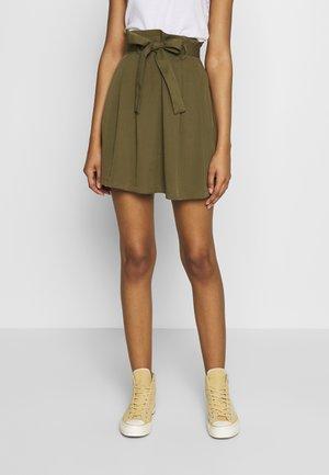 VIVERO SHORT SKIRT - Áčková sukně - dark olive