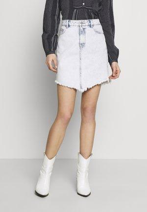 VIANNABEL SHORT SKIRT - Denim skirt - light blue denim