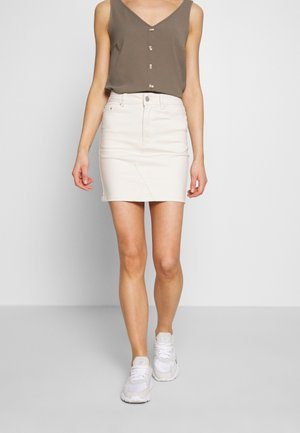 VICASSIE HWRE SHORT DENIM SKIRT COL - Falda vaquera - birch