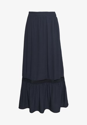 VIJESSAS ANCLE SKIRT - Maxi skirt - navy