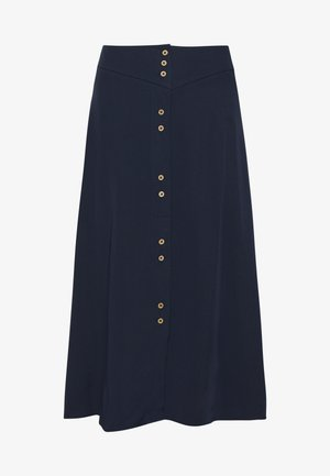 VIMOROSE BUTTON MIDI SKIRT - A-line skirt - navy blazer
