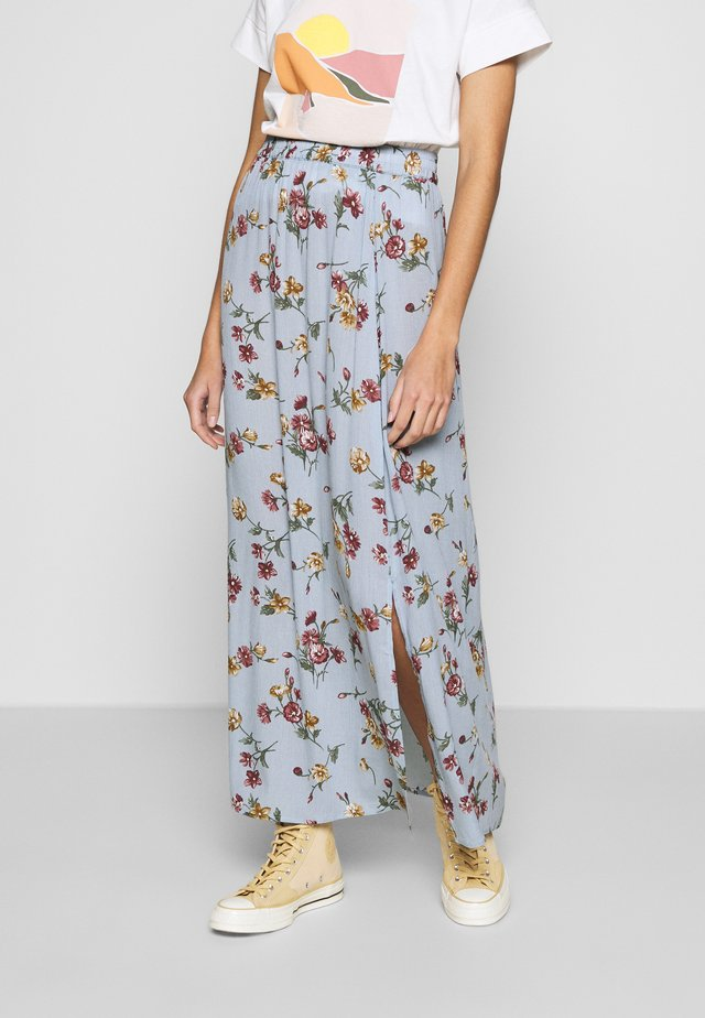 VILULU MAXI SKIRT - Maxirok - ashley blue/winetasting