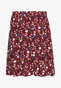 Vila - VILULU SHORT SKIRT - A-line skirt - winetasting/blue - 3