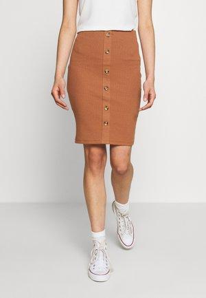 VICONIA PENCIL SKIRT - Pouzdrová sukně - rawhide