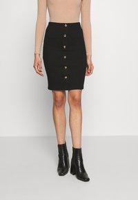 VILA PETITE - VICONIA PENCIL SKIRT - Pencil skirt - black - 0