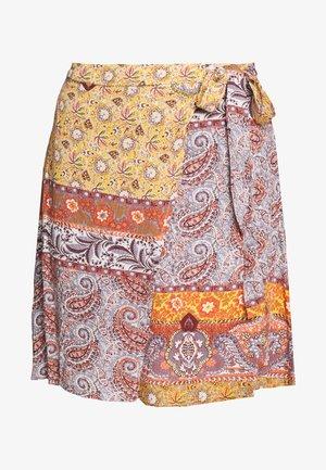VIASI FESTIVAL TIE WRAP SKIRT - A-line skirt - copper brown