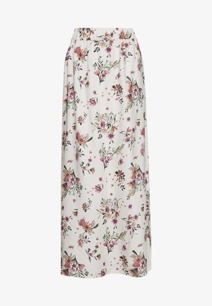 VIBILLY  LONG MAXI FLOWER SKIRT - Gonna lunga - cloud dancer