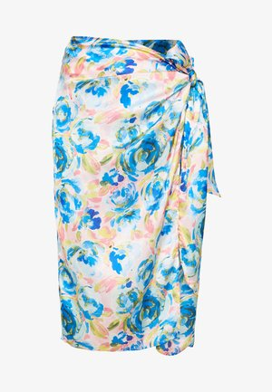 AKVARALLA TIE WRAP SKIRT - Pencil skirt - blue