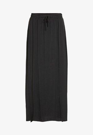 MAXIROCK KORDELZUG - Maxi skirt - black