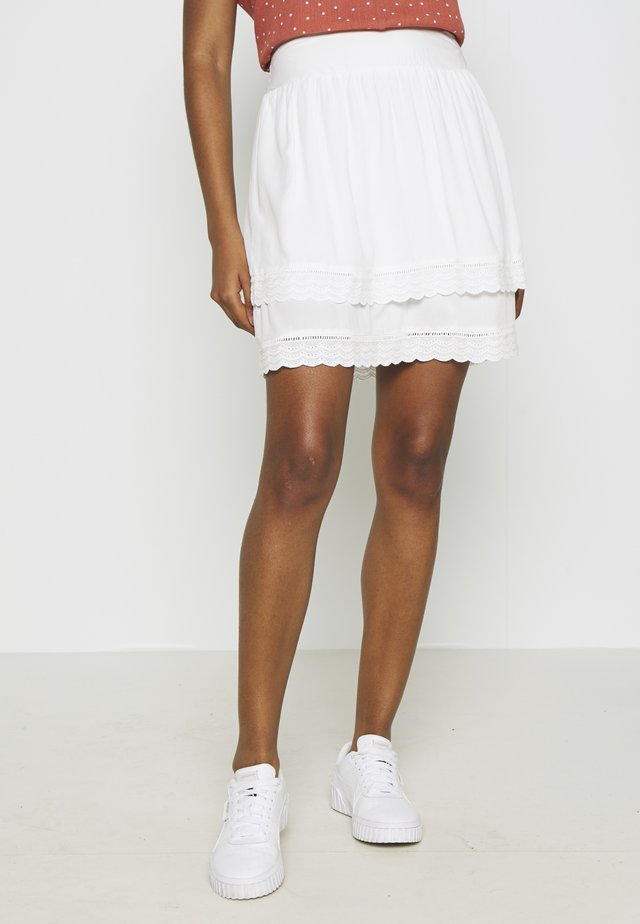 VIMOLUNA SKIRT - Mini skirt - snow white