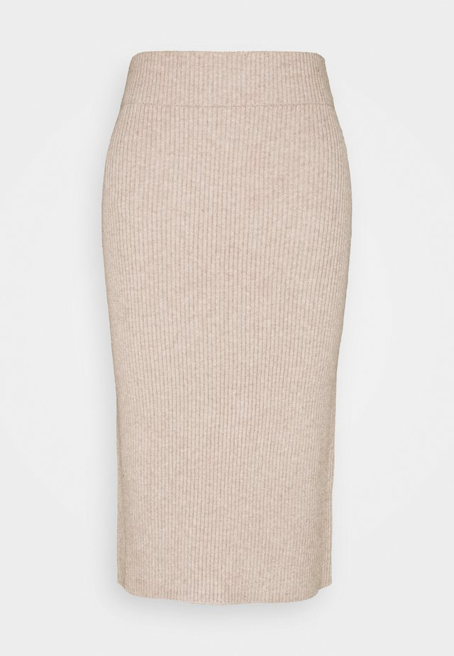 VIRIL PENCIL SKIRT - Pennkjol - simply taupe/melange