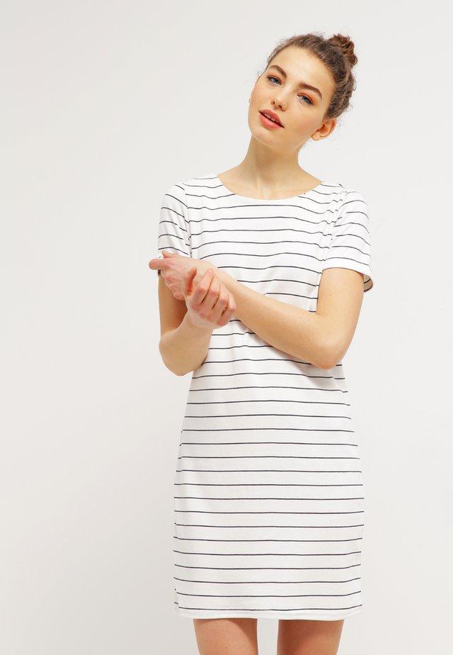 VITINNY  - Jersey dress - snow white/total eclipse