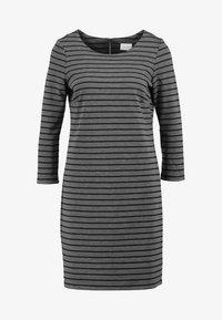 medium grey melange/black