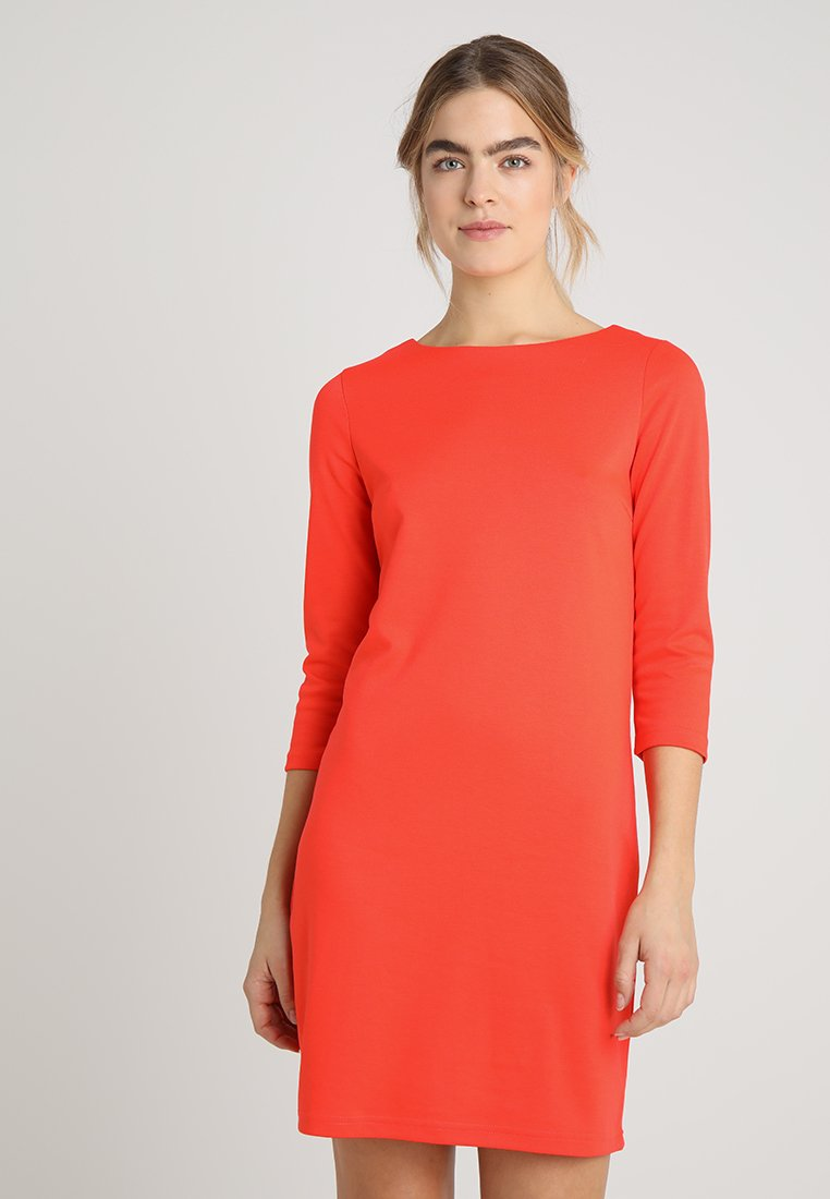 Vila - VITINNY NEW DRESS - Jerseyjurk - cherry tomato