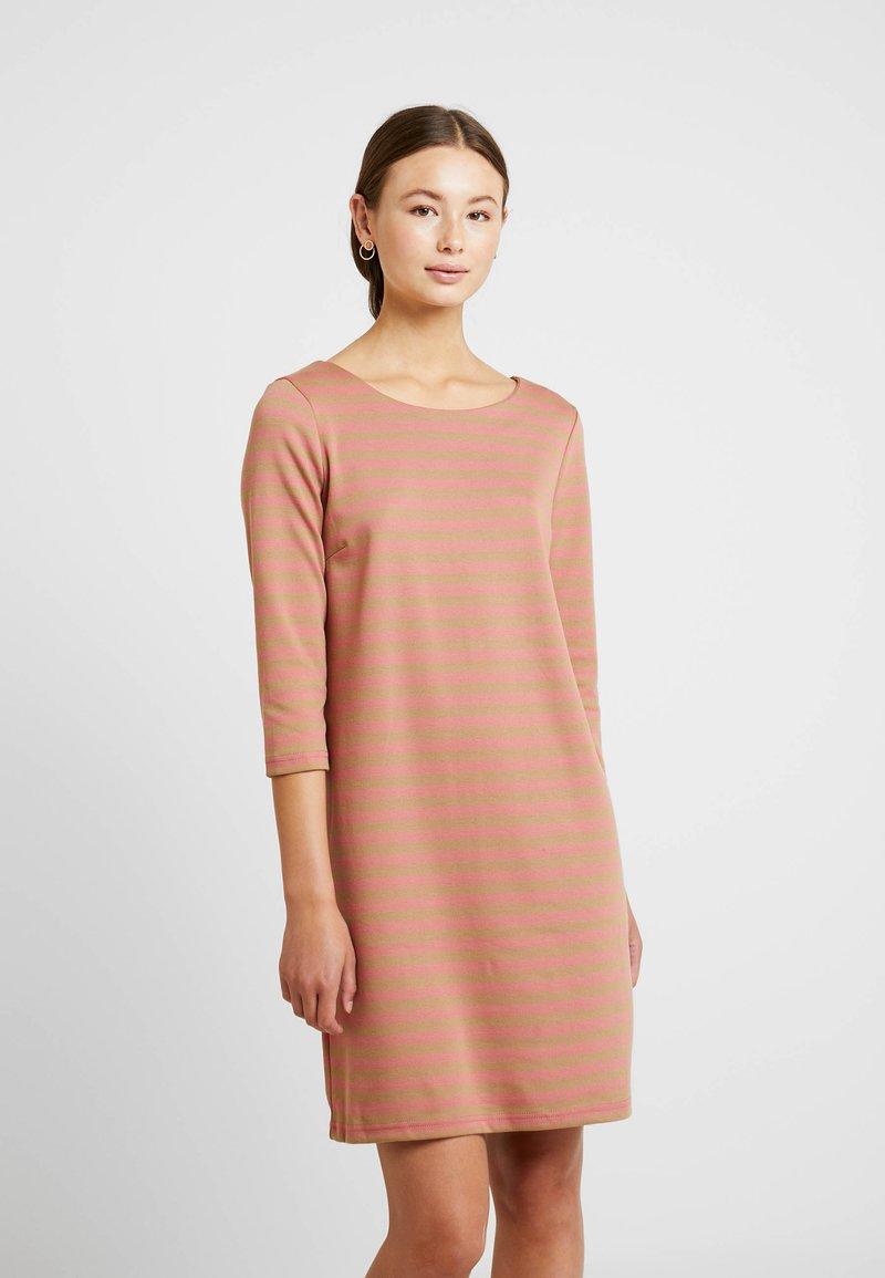 Vila - VITINNY NEW DRESS - Jersey dress - brick dust/dusty camel