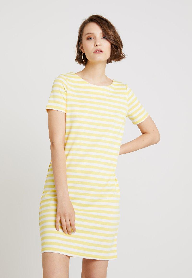 Vila - VITINNY NEW DRESS - Jerseyjurk - goldfinch/snow white